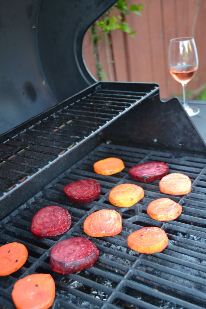 Grilling is best accomplished with a glass of rosé!
